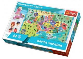Пазл обучающий Карта Украины, 44 эл. (укр.)