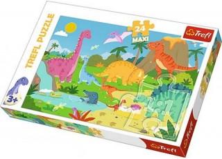 Пазл В мире динозавров, 24 эл. MAXI