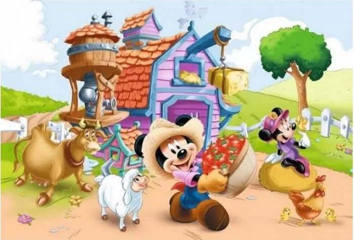 Пазл На ферме, Микки Маус и друзья, 160 эл.