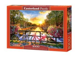 Пазл Живописный Амстердам с велосипедами, 1000 эл.
