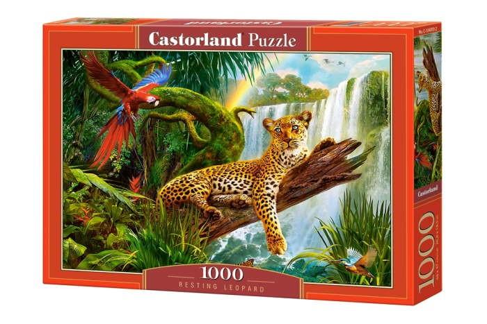 Пазл Отдыхающий леопард, 1000 эл.