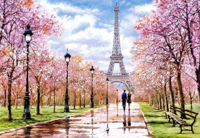 Пазл Романтическая прогулка по Парижу, 1000 эл.