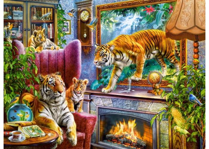 Пазл Возвращение в реальность, Тигры, 3000 эл.