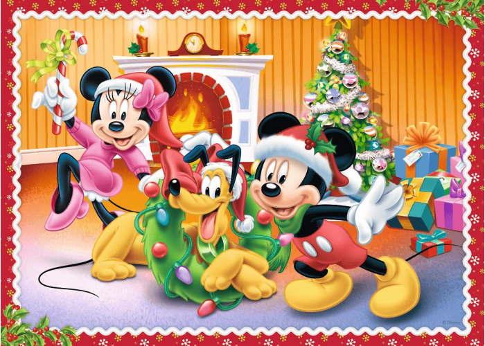 Пазл 4 в 1 Время рождества, Микки Маус и друзья (35, 48, 54, 70 эл.)