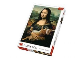 Пазл Мона Лиза с котом, Роб Дэй, 500 эл.