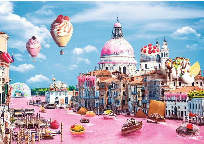 Пазл Сладости в Венеции, Веселые города, 1000 эл.