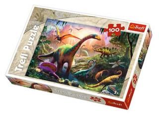 Пазл Земля динозавров, 100 эл.