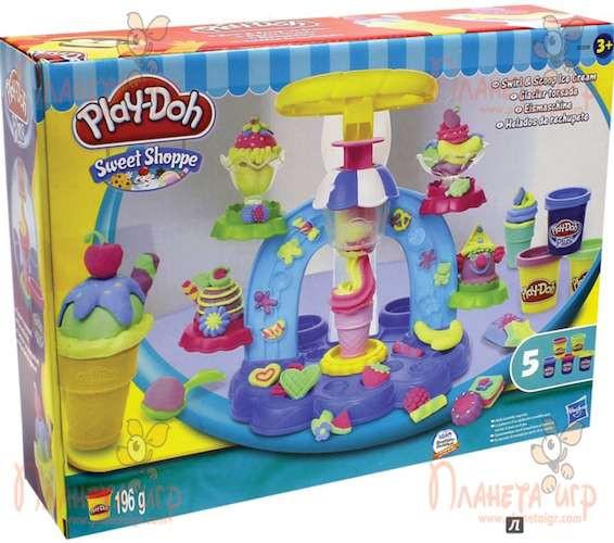 Набор для лепки Play-Doh. Фабрика мороженого