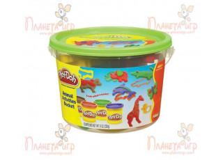 "Набор для лепки Play-Doh. Ведёрко с формочками ""Сафари"""