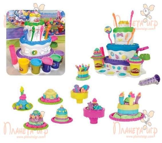 Набор для лепки Play-Doh. Праздничный торт