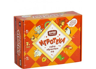 Игротека 7+ (Читай-Хватай + Турбосчёт + Цветариум + Геометрика + подарочная коробка)