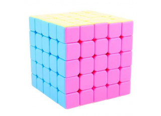 Кубик Ю-Джи 5х5 Розовый без наклеек (YJ 5x5 Pink Stickerless)