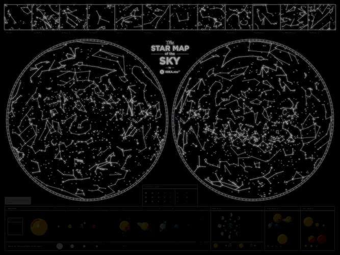 "Карта звездного неба ""Star map of the sky"""