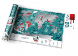Скретч карта мира Travel Map™ Marine World