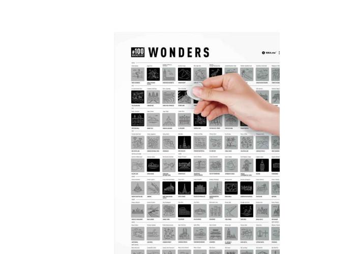Скретч постер #100 Wonders