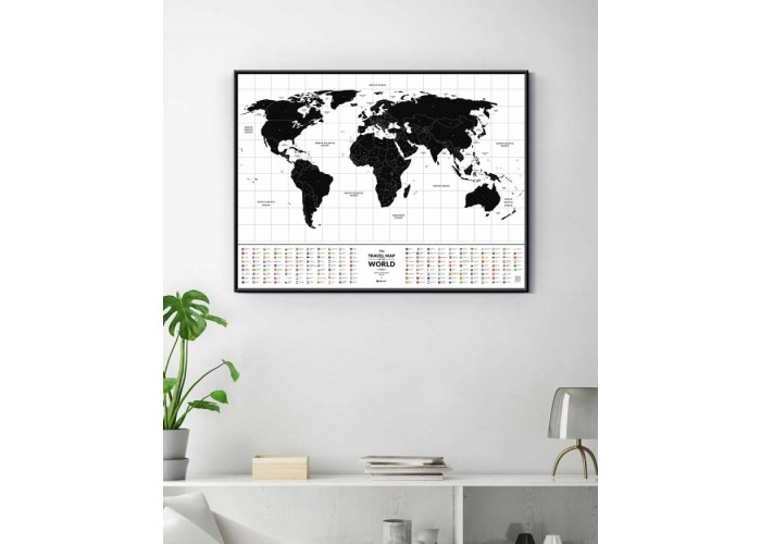 Скретч карта мира Travel Map™ Flags World