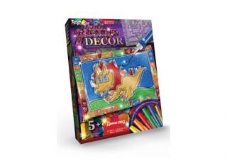 Витражная картина Glitter Decor Динозавр