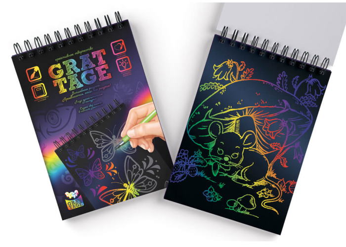 Набор для творчества Grattage Бабочки (формат А5)