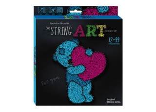 Набор для творчества The String Art Мишка: Для тебя