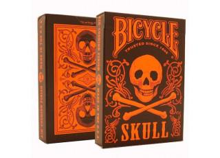 Карты игральные Bicycle Skull Orange