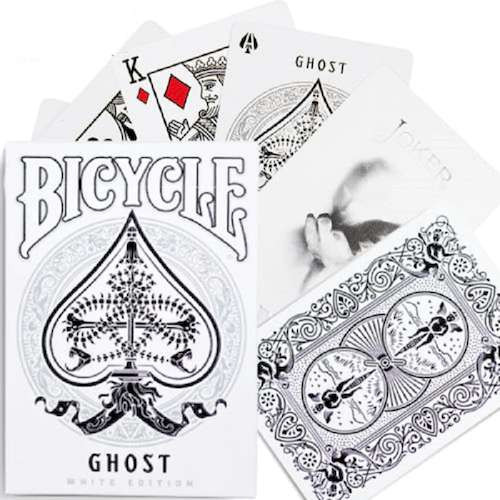 Карты игральные Bicycle Ghost (White edition)