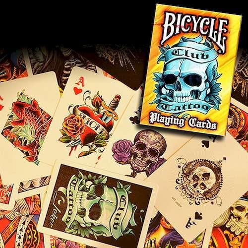 Карты игральные Bicycle Club Tattoo (orange)