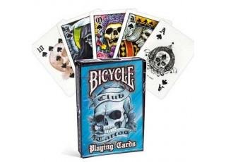 Карты игральные Bicycle Club Tattoo (blue)
