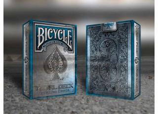 Карты игральные Bicycle Metal Deck (blue)