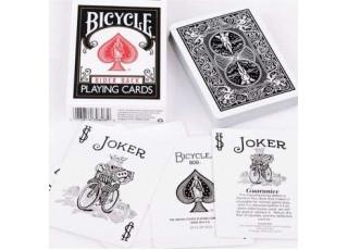 Карты игральные Bicycle Rider back (black)