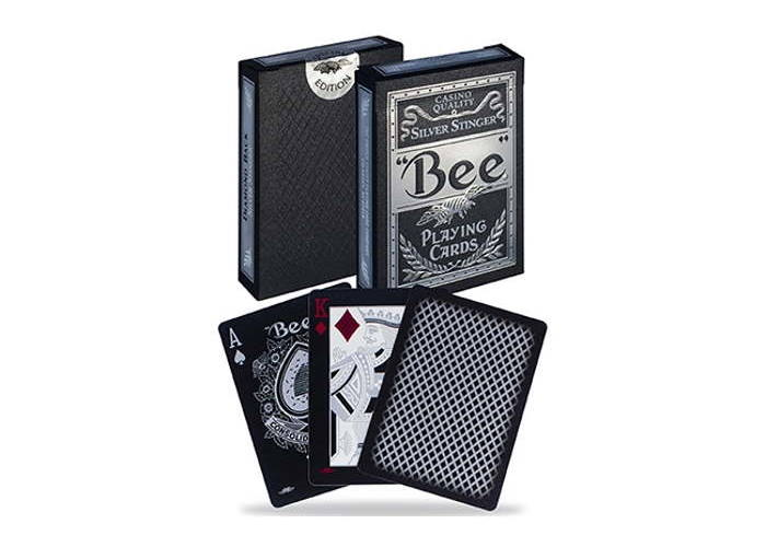Карты игральные Bee Silver Stinger