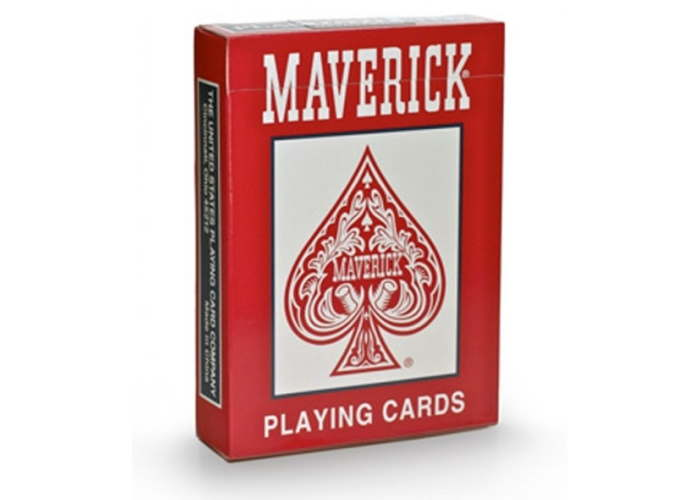 Карты игральные Maverick Standard Index (red, blue)