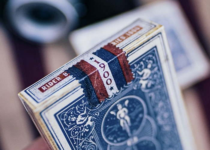 Карты игральные Ellusionist Vintage 1900 (blue)