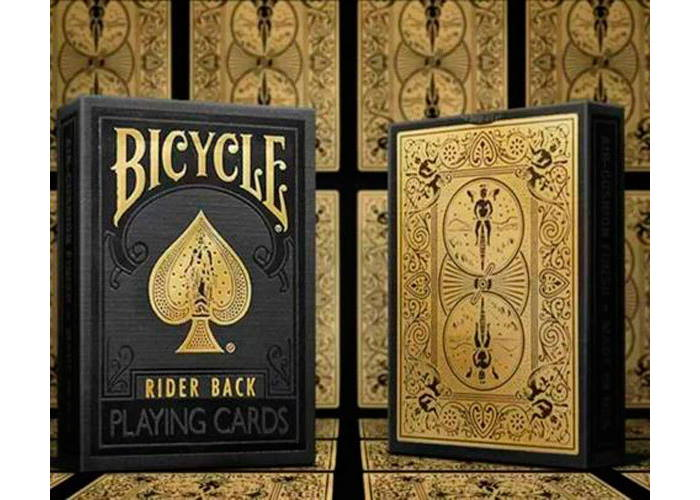 Карты игральные Bicycle Black & Gold Rider back
