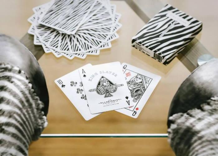 Карты игральные Ellusionist Zebra King Slayer