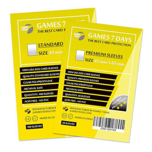 Протекторы для карт Games7Days (41 х 63 мм, Mini USA, 100 шт.) (STANDART)