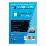 Протекторы для карт Games7Days (45 х 68 мм, Mini Euro, 100 шт.) (STANDART)