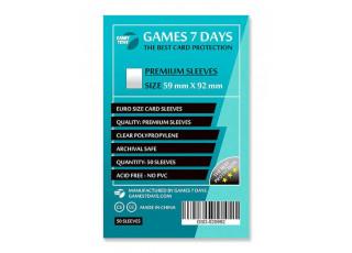 Протекторы для карт Games7Days (59 х 92 мм, Euro, 50 шт.) (PREMIUM)