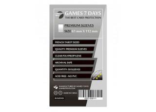 Протекторы для карт Games7Days (61 х 112 мм, French Tarot, 50 шт.) (PREMIUM)