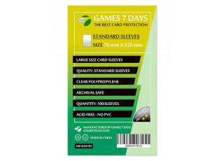 Протекторы для карт Games7Days (70 х 120 мм, Large, 100 шт.) (STANDART)