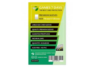 Протекторы для карт Games7Days (70 х 120 мм, Large, 50 шт.) (PREMIUM)