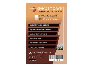 Протекторы для карт Games7Days (80 х 120 мм, Ultra-Fit, 100 шт.) (STANDART)