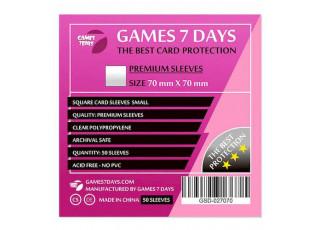 Протекторы для карт Games7Days (70 х 70 мм, Square Small, 50 шт.) (PREMIUM)