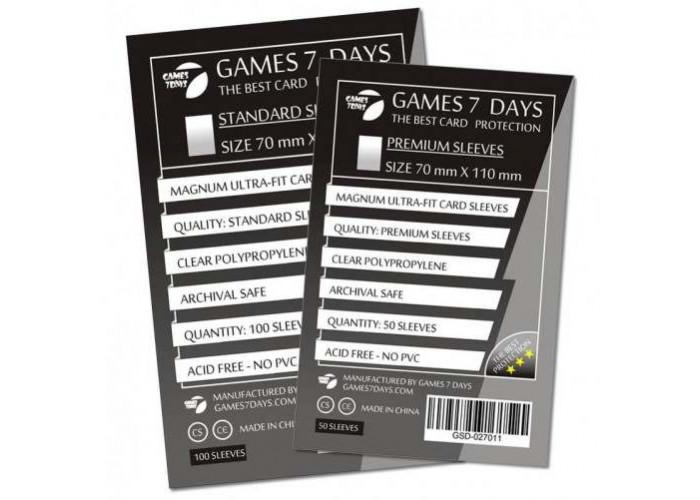 Протекторы для карт Games7Days (70 х 110 мм, Magnum Ultra-Fit, 100 шт.) (STANDART)