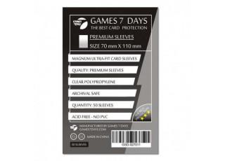 Протекторы для карт Games7Days (70 х 110 мм, Magnum Ultra-Fit, 50 шт.) (PREMIUM)