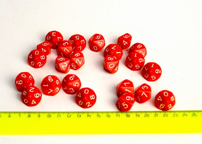 Кубик D10 (красный)