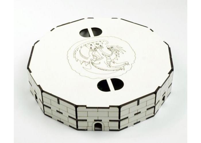 """Тарелка для бросания кубиков """"Дракон"""" белая (Dragon Dice Tray)"""