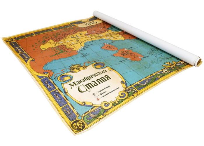 Интерьерный баннер Макабрический Ренессанс: Карта Макабрической Италии
