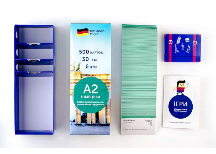 Карточки для изучения немецкого языка Ниже среднего English Student A2