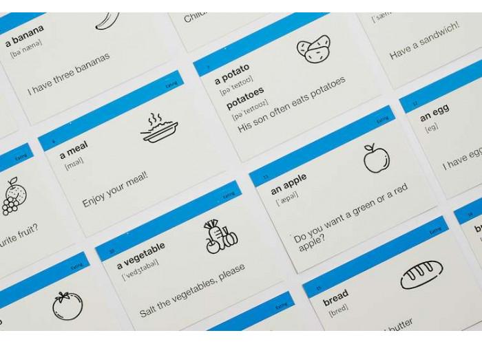 Карточки для изучения английского языка English Student Elementary A1 (русско-английские)