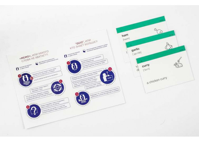 Карточки для изучения английского языка English Student Pre-Intermediate A2 (русско-английские)